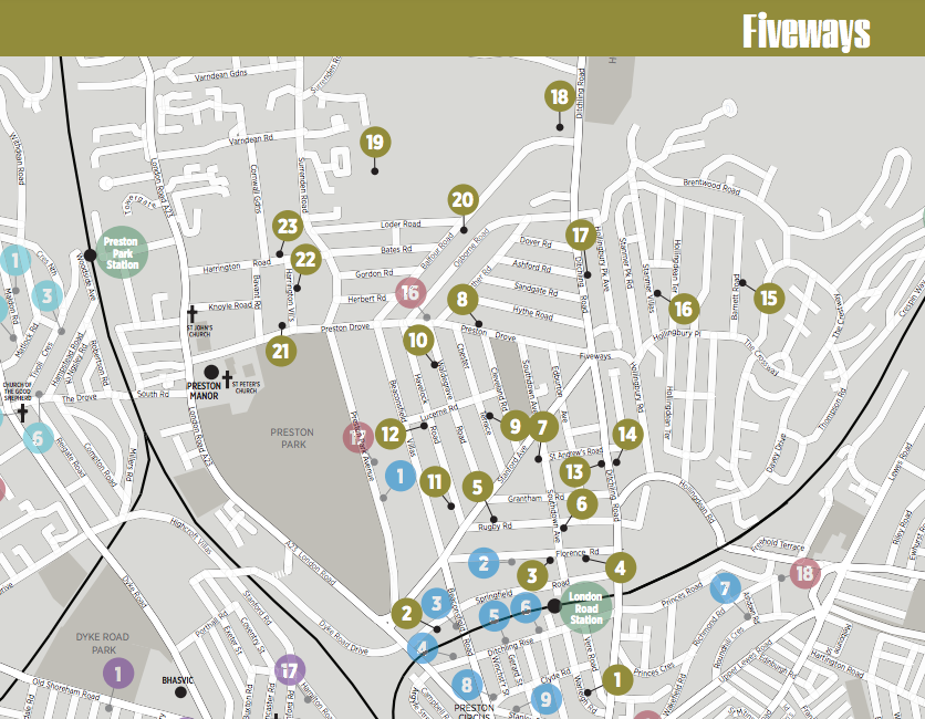 Fiveways Artists Map